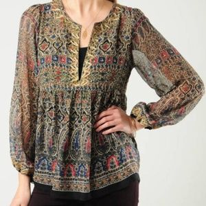 JOIE MULTI JANETTE EMBROIDERED LONG SLEEVE TOP